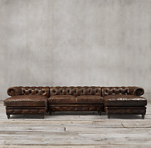 Preconfigured Kensington Leather U-Chaise Sectional