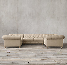 Preconfigured Kensington Upholstered U-Sofa Sectional