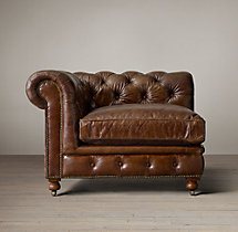 Kensington Leather Corner Chair