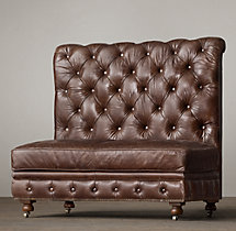 Kensington Leather Double Banquette