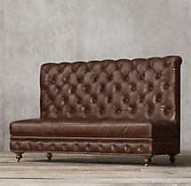 Kensington Leather Triple Banquette
