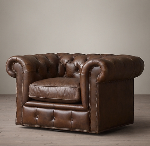 Kensington Leather Swivel Chair