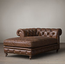 Kensington Leather Left-Arm Chaise