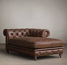 Kensington Leather Right-Arm Chaise