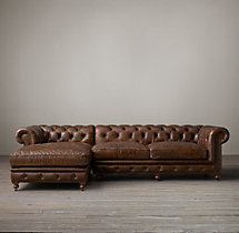 Kensington Leather Left-Arm Chaise Sectional