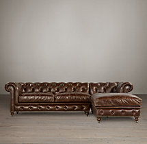 Preconfigured Kensington Leather Right-Arm Chaise Sectional