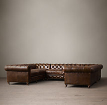 Kensington Leather U-Sofa Sectional