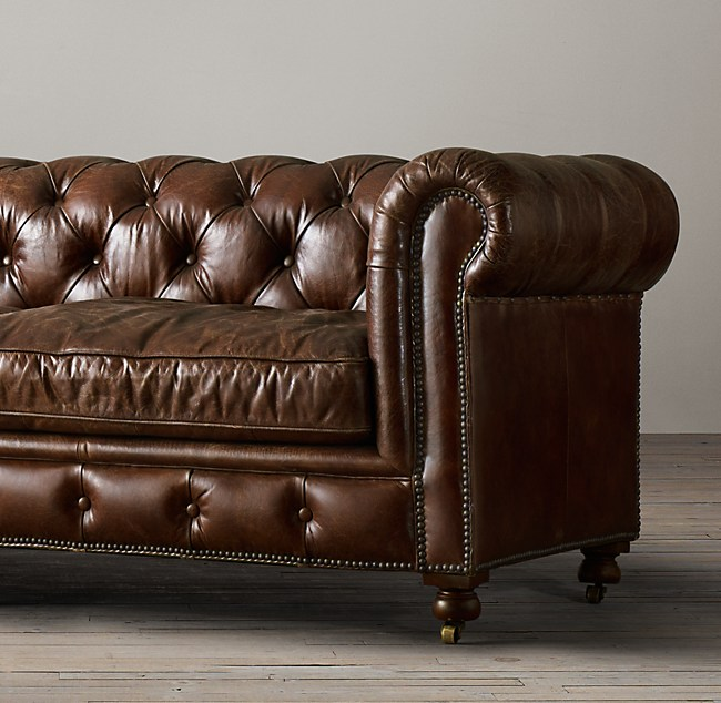 Petite Kensington Leather Sofa