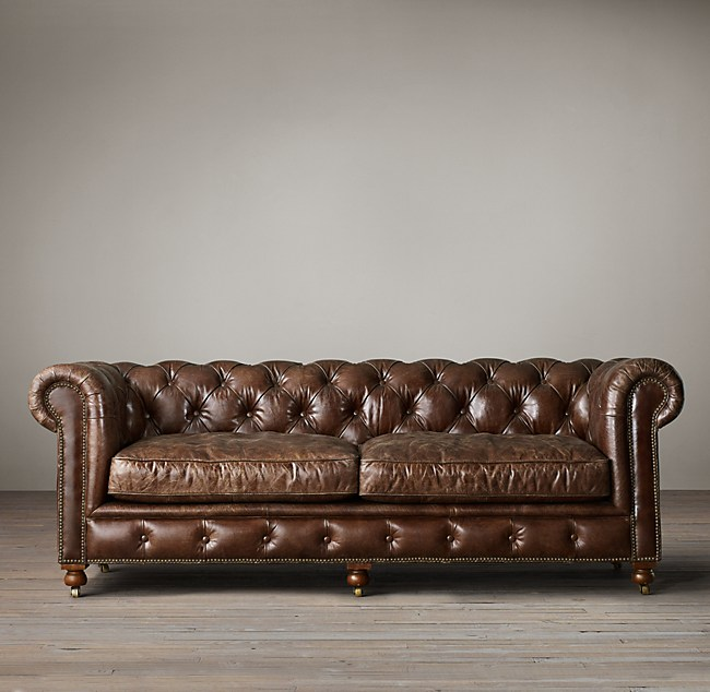 Kensington Leather Sofa For Sale