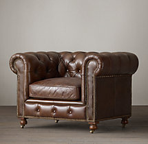The Petite Kensington Leather Chair
