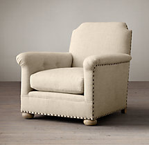 King Upholstered Club Chair