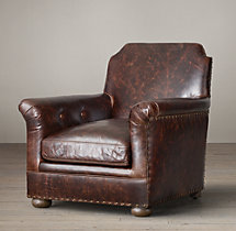 King Leather Club Chair