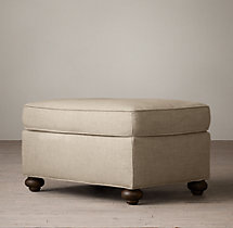 Petite Classic Lancaster Upholstered Ottoman