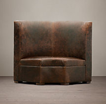 Maxwell Leather Corner Banquette