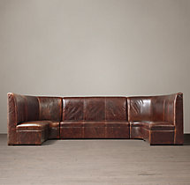 Maxwell Leather U Banquette