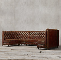 Kensington Leather U Banquette