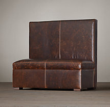 Maxwell Leather Double Banquette