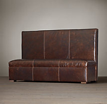 Maxwell Leather Triple Banquette