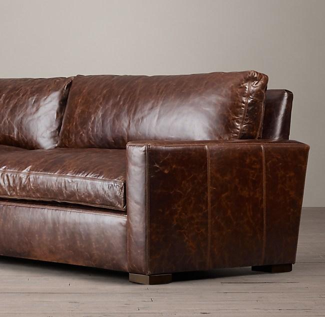 6 Petite Maxwell Leather Sofa