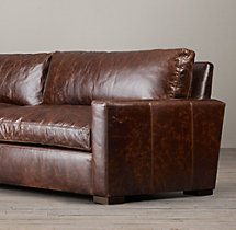 7' Petite Maxwell Leather Sofa