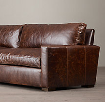8' Petite Maxwell Leather Sofa