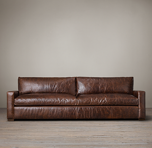 Petite Maxwell Leather Sofa