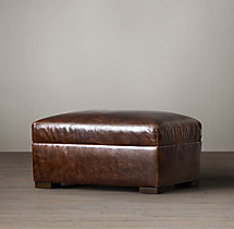 Petite Maxwell Leather Ottoman