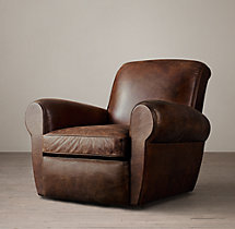 Parisian Leather Swivel Chair