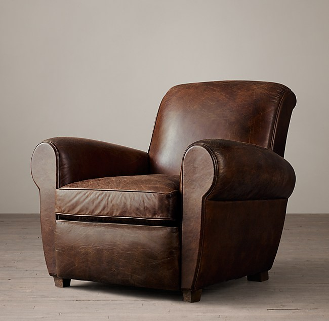 1920s Parisian Leather Club Chair
