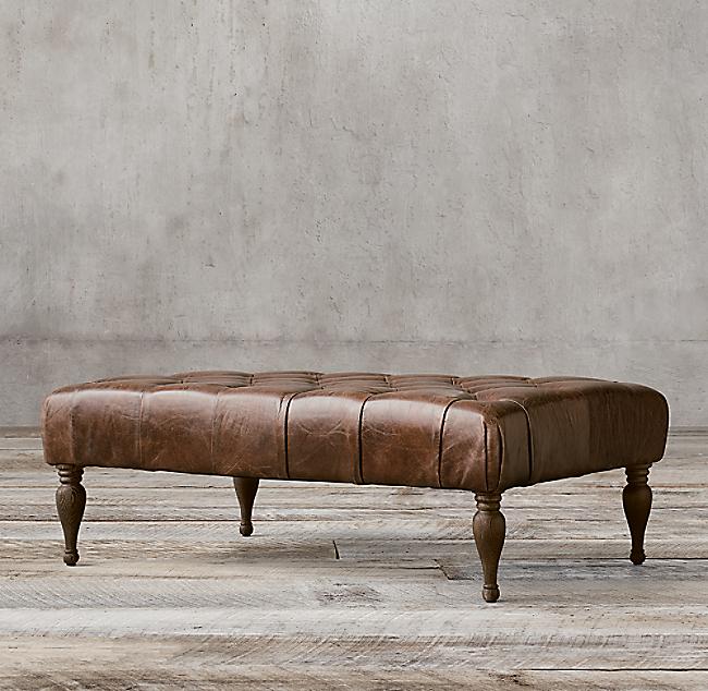 Fantastic 48 Bennett Rectangular Leather Ottoman Beatyapartments Chair Design Images Beatyapartmentscom