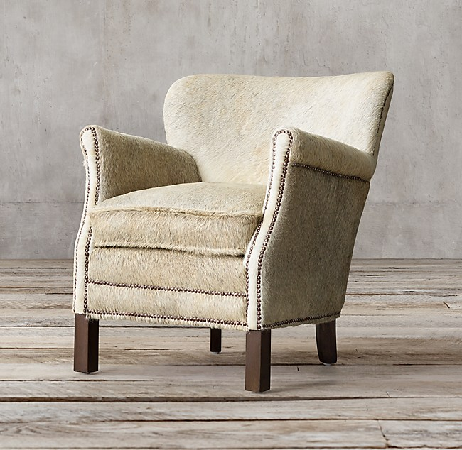 chair with nailheads hair-on-hide