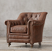 Sandringham Leather Club Chair