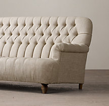 6' 1860 Napoleonic Tufted Upholstered Sofa