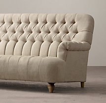 7' 1860 Napoleonic Tufted Upholstered Sofa