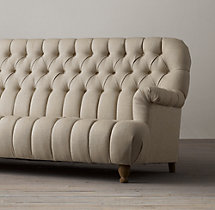 8' 1860 Napoleonic Tufted Upholstered Sofa