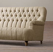 9' 1860 Napoleonic Tufted Upholstered Sofa
