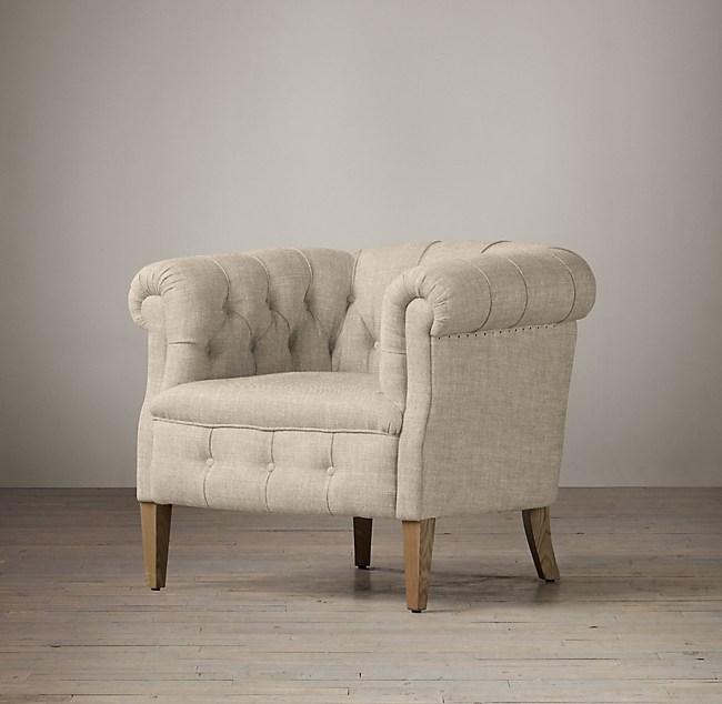 1930s English Tufted Tub Chair