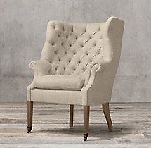 19th C. English Wing Chair