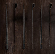 Hammered Steel Rivet Barbecue Skewers (Set of 6)