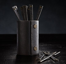 Hammered Steel Rivet Cocktail Forks (Set of 12)
