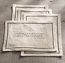 Literary Quote Cocktail Napkin Set, Ralph Waldo Emerson