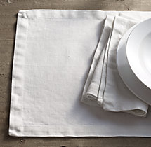 Garment-Dyed Textured Linen Placemats (Set of 4)