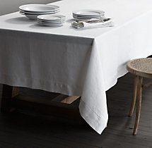 Garment-Dyed Textured Linen Tablecloth