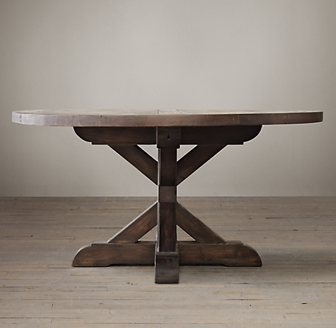 Salvaged Wood XBase Collection Salvaged Natural RH - X base dining table
