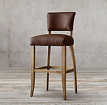 Adèle Leather Stool