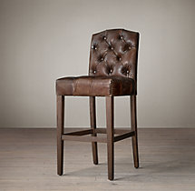 Bennett Camelback Leather Stool