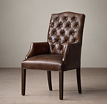Bennett Camelback Leather Armchair