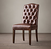 Bennett Camelback Leather Side Chair