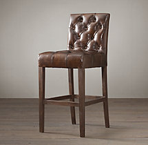 Bennett Parsons Leather Stool