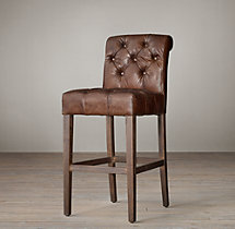 Bennett Roll-Back Leather Stool
